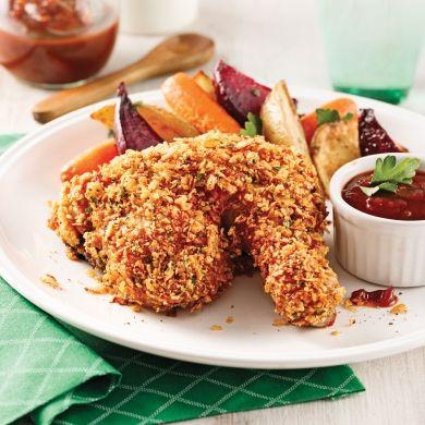 Cuisses de poulet croustillantes - Soupers de semaine - Recettes 5-15 - Recettes express 5/15 - Pratico Pratique