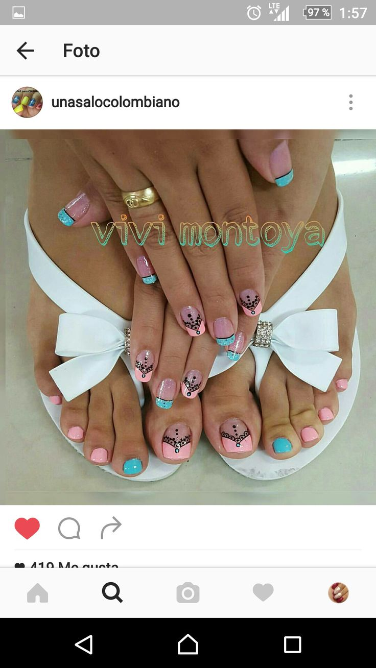 97 best pedicure images on Pinterest | Toe nail designs, Nails ...