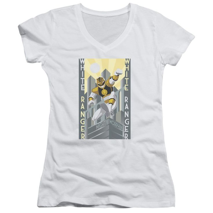 "Checkout our #LicensedGear products FREE SHIPPING + 10% OFF Coupon Code ""Official"" Power Rangers / White Ranger Deco-junior V-neck - Power Rangers / White Ranger Deco-junior V-neck - Price: $29.99. Buy now at https://officiallylicensedgear.com/power-rangers-white-ranger-deco-junior-v-neck"