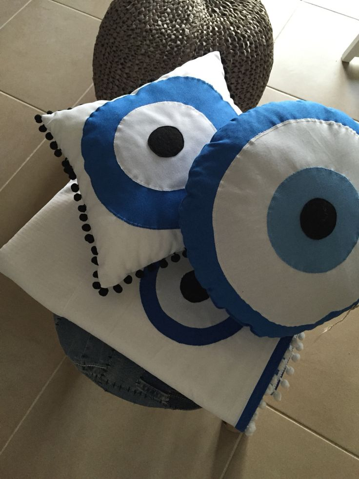 Livingroom evil eye pillows