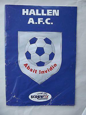 Hallen AFC v Torrington Town Screwfix Direct League football programme 22 2
