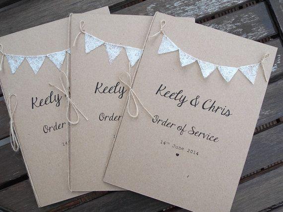 Custom Listing For Lauren Rose 50 Instalment 40 X Order Of Service Booklets