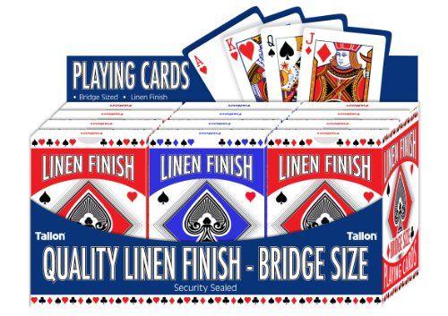 Tallon Games Linen Bridge Size Playing Card Tallon http://www.amazon.co.uk/dp/B00FJUPJVQ/ref=cm_sw_r_pi_dp_YgLWwb0NZG683