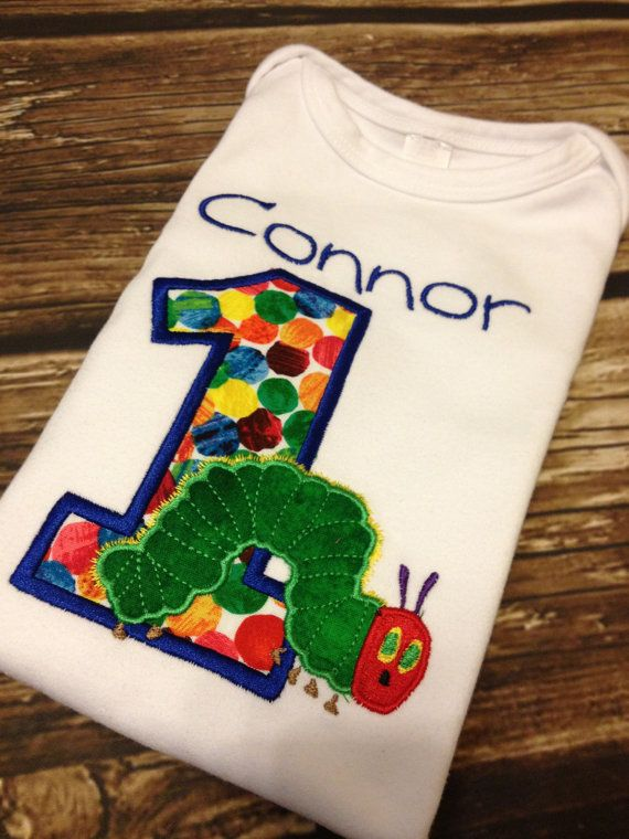 The VERY Hungry Caterpillar Birthday Shirt FREE Personalization