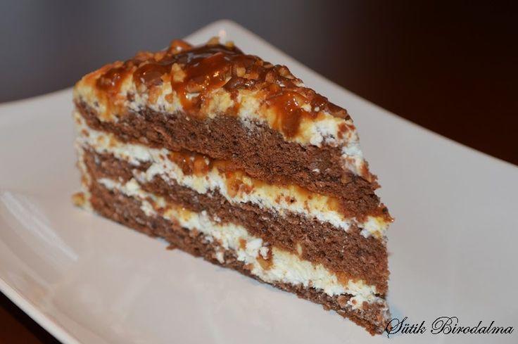 Caramel-cottage cheese cake Guru torta