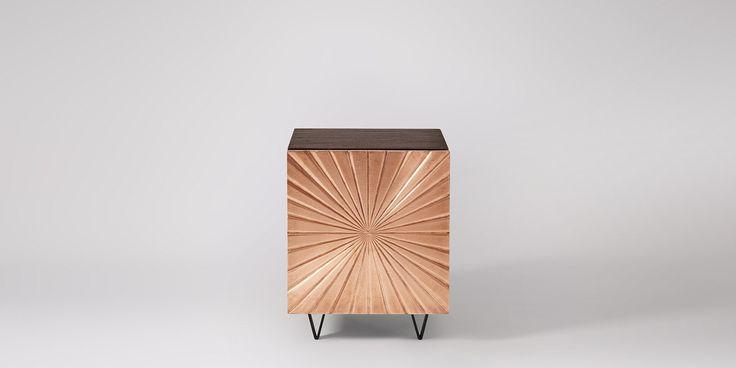 Ziggy Bedside Table In Copper