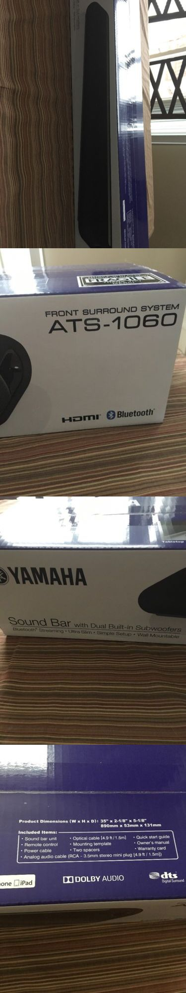 Home Theater Systems: Yamaha Sound Bar W Dual Built-In Subwoofers Model Ats-1060 Black New And Sealed -> BUY IT NOW ONLY: $174.95 on eBay!
