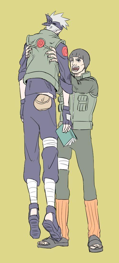 Les éternels rivals    Kakashi et Gaï   KakaGai