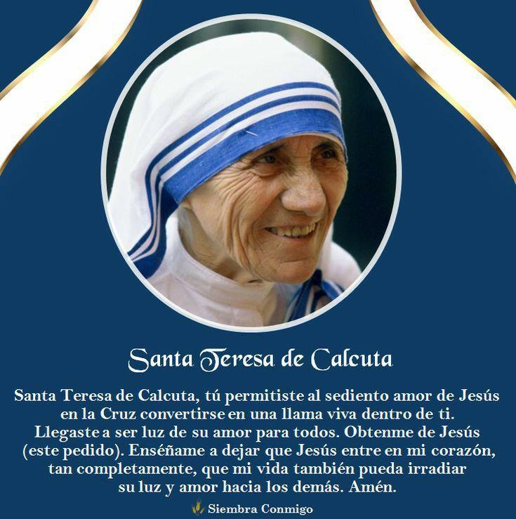 Pin De Adriana Parada En Madre Teresa De Calcuta La Cruz De Jesus Santa Teresa De Calcuta De Jesus