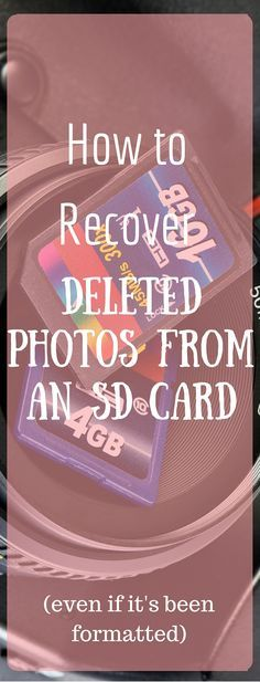 Did you accidentally delete photos from your SD card? Here is how you can recover them for free (even if it's been formatted!)  via @clarkscondensed