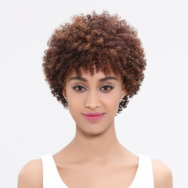 Rebecca jerry curl unprocessed original raw brazilian virgin remy short human hair wig and afro kinky human hair wig