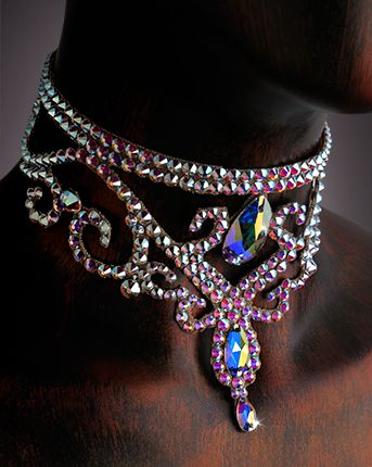 Serena Crystal Choker DCX607 | Dancesport Fashion @ DanceShopper.com