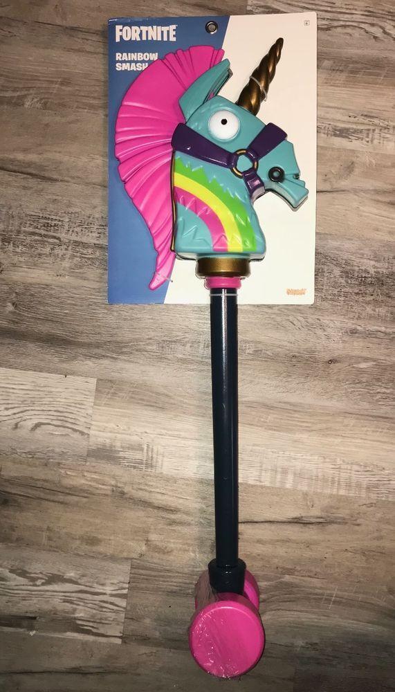 New Fortnite Rainbow Smash Unicorn Pickaxe Harvesting Tool