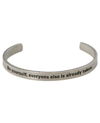 Oscar Wilde Quote Bracelet: Be Yourself, Everyone Else Is Taken - Made in USA