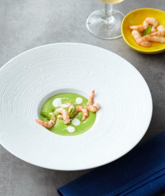 Kalte Erbsensuppe mit Garnelen - Kalte Gerichte: Rezepte für Suppen - 9 - [ESSEN & TRINKEN]