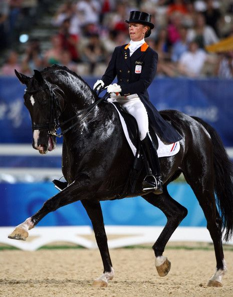 Anky van perform during the Dressage Grand Prix held at the Hong Kong Olympic Equestrian Venue in Sha Tin
