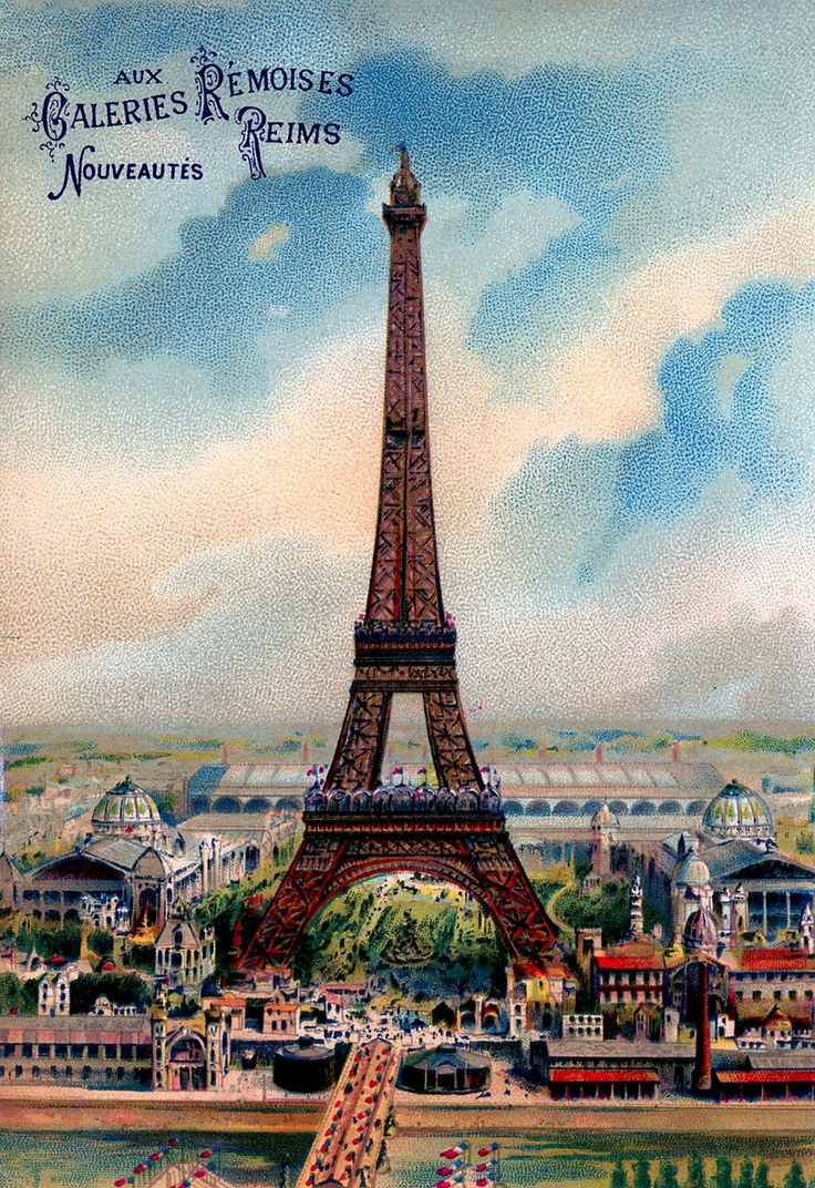 винтажная эйфелева башня картинки удобство состоит