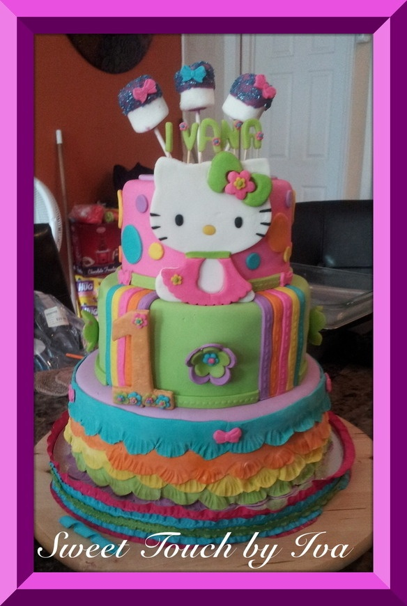 CakeSide - Hello Kitty submitted by Sweet Touch by Iva on www.cakeside.com!