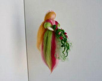 Un arco iris móvil hadas fieltro aguja por Made4uByMagic en Etsy