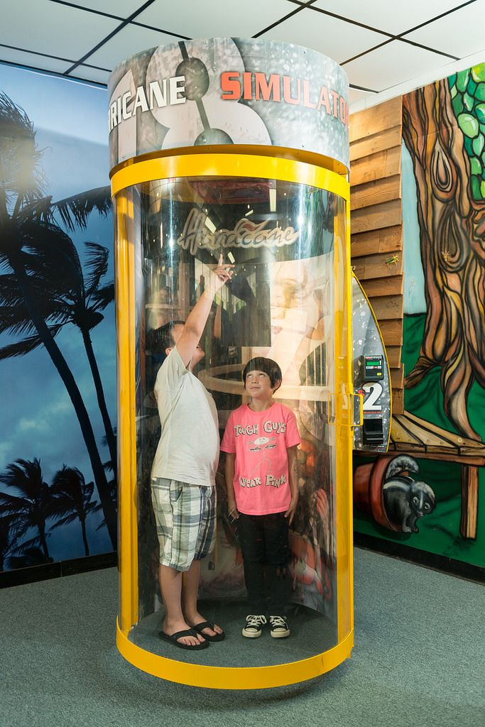 HURRICANE SIMULATOR Learn how to protect yourself in the event of a hurricane and feel 78 mph winds of a Category I Hurricane in the Hurricane Simulator! Identify hurricane strength winds with the Saffir-Simpson Hurricane Scale. $2 per simulation experience.