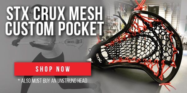 The Women S Lacrosse Custom Strung Crux Mesh Pocket Is Ideal For The Defensive Minded Player The Crux M Womens Lacrosse Sticks Lacrosse Sticks Womens Lacrosse