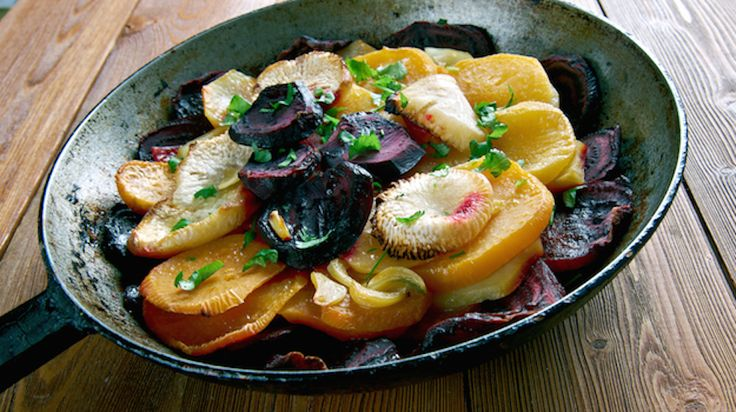 Beet and Turnip Gratin Image from Shutterstock