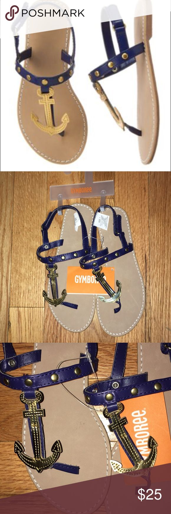 Gymboree cute on the coast new with tags size 1 Adorable ⚓️Anchor coastal nautical sandals for summer. Girls Gymboree new with tags size one. Smoke-free pet free home. Gymboree Shoes Sandals & Flip Flops