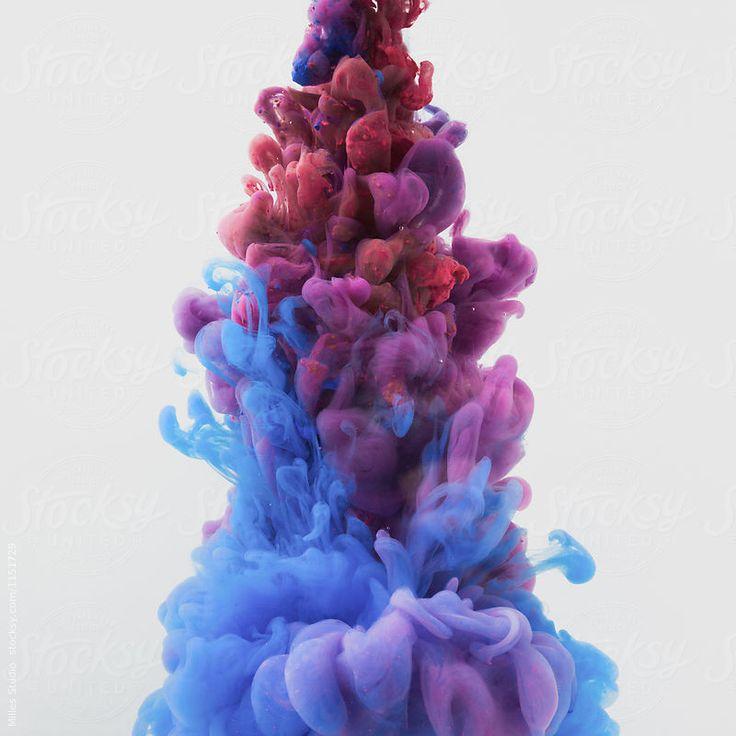 Flow of paint underwater