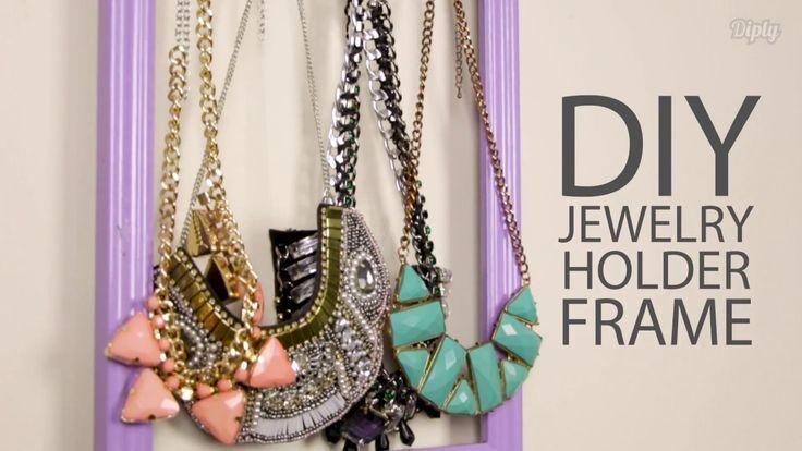 Vintage Frame Jewelry Organizer | Crafty