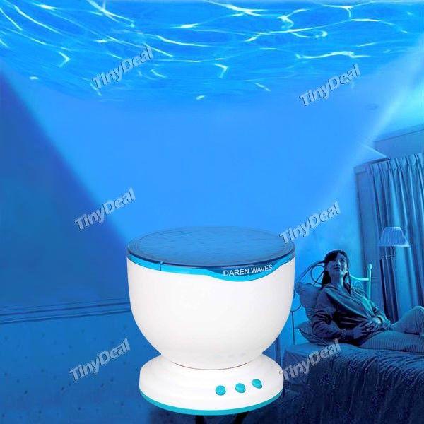 Style de Vagues LED Lampe de Nuit Projecteur Lampe avec Haut-parleur St��r��o pour PC Laptop MP3 MP4 iPod FTY-10416