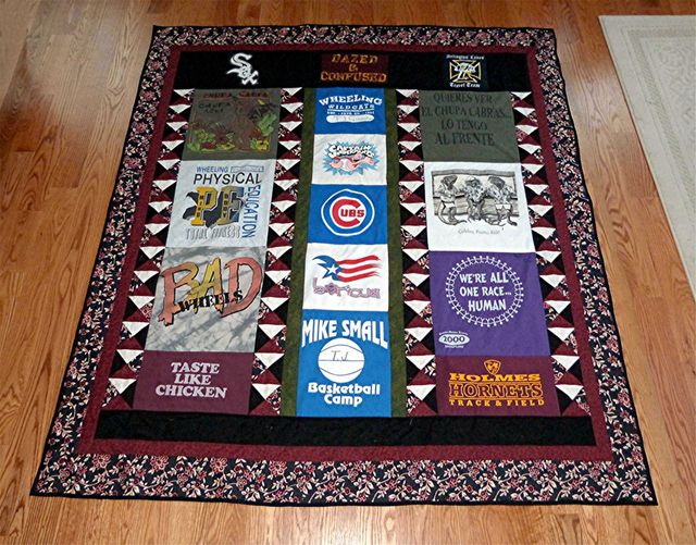 T Shirt Quilts Photo Gallery: TJ's T Shirt Quilt