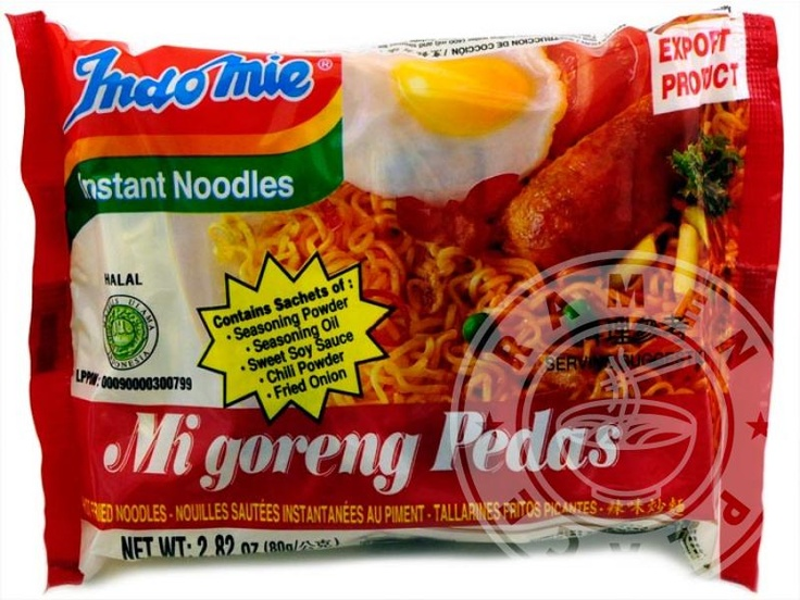 Indomie Shrimp Mi goreng Pedas Instant Noodle: I'm going to look in the local Asian stores and see if I can find some of this.  It puts Roman Noodles to shame.
