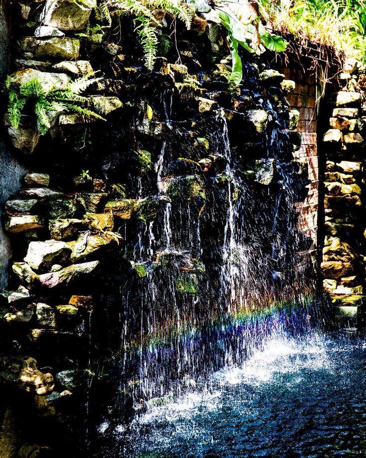 A secret rainbow found within the jungle Thailand