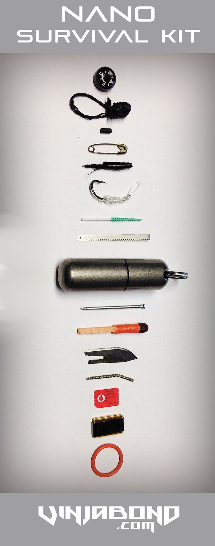 Ultra minimal nano survival kit:
