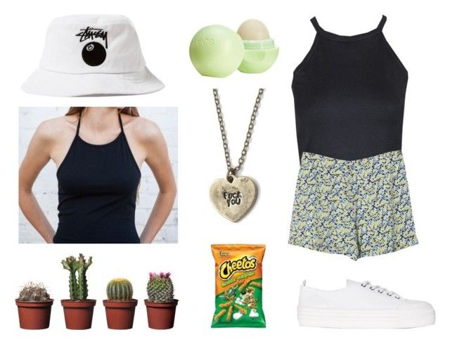Halter & Bucket by iyafries on Polyvore featuring Sachi, Equipment, MANGO, Brandy Melville, Stussy and Topshop