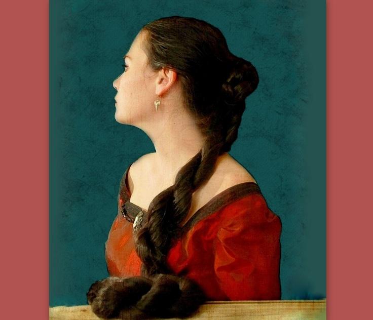 Medieval Renaissance hair extension hair accessory SCA ren faire garb princess bride Costume Wig reenactment Braid fall Twist Custom color. $78.00, via Etsy.