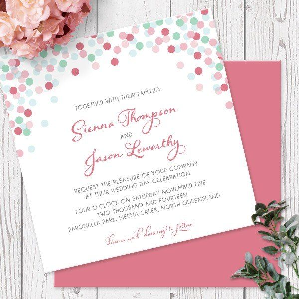 CONFETTI SPRINKLES - WEDDING INVITATION