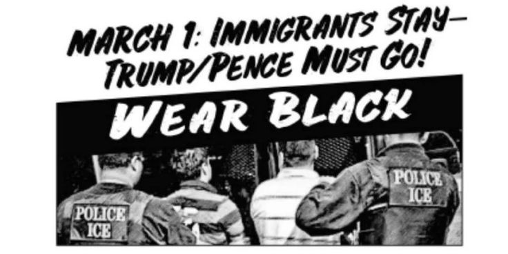 March 1: Immigrants Stay – Trump/Pence Must Go! #ImmigrantsStayTrumpPenceMustGo