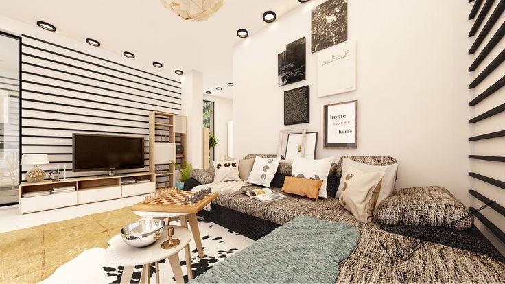 """""""NRL"""" Interior Design Project  Credits: Concept: Arh. Irina Patasanu 3D Render: Arh. Irina Patasanu"""