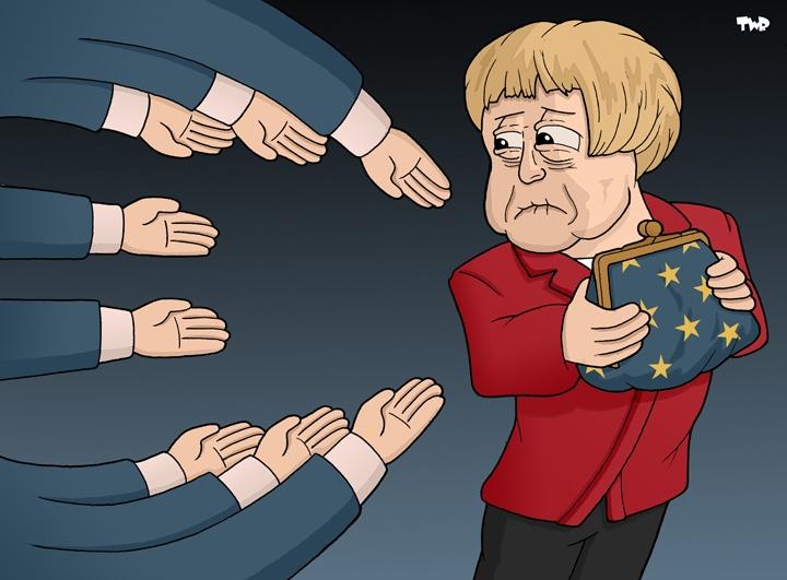 Merkel and the European budget.