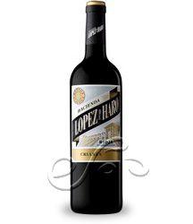 Vino tinto Hacienda López De Haro Crianza 2010.