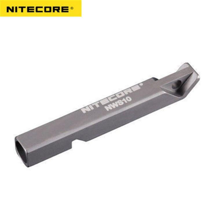 Nitecore NWS10 Titanium Survival Whistle 120db Lifesaving Emergency SOS Tool