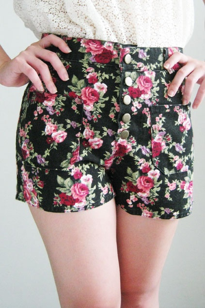 ❤ Floral Shorts