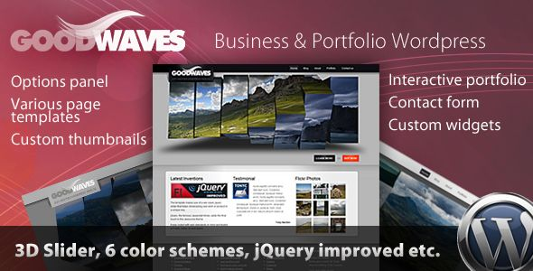 Goodwaves - Business & Portfolio Wordpress theme