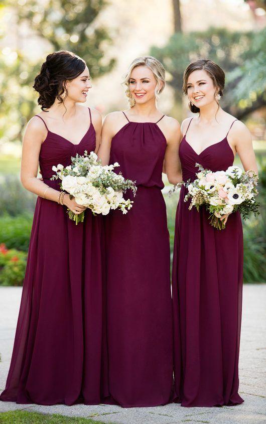 8746 Bodenlanges Brautjungfern-Kleid aus Chiffon by Sorella Vita