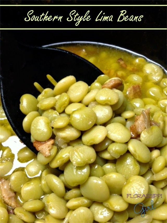 Southern Style Lima Beans With Bacon – Lima Beans are a common side dish in our household, but there's just one small catch. You see, my husband was raised in the Deep South & well... Let me just say this, lima beans (& any other pea/bean, for that matter) do NOT come from a can! EVER. They really are worth the extra effort, & taste SO much better this way!