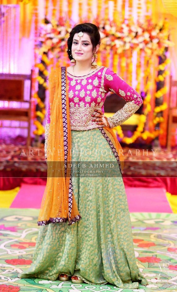 South Asian #weddings are no doubt celebrated all out with the number of functions before and after the #weddingday. #Mehndi is known as the fragment of nuptials in the #Asian Kingdom. #mizznoor presents you these Latest #Bridal Mehndi #Dresses #Designs Collection for your #inspiration.  To find out how you can get these designs tailored to your measurements please contact us !! #pakistanifashion #indianwedding #pakistaniclothing #bridalmua #asianbridalshow #bridaldresses2018