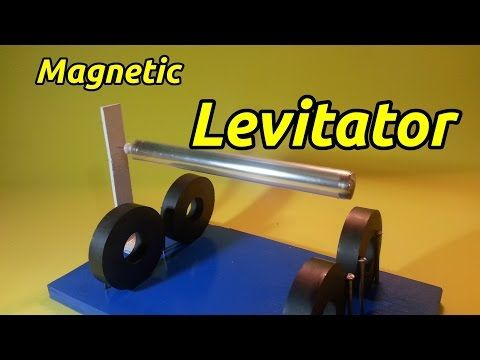 LEVITRON spinning top magnetic levitation - YouTube