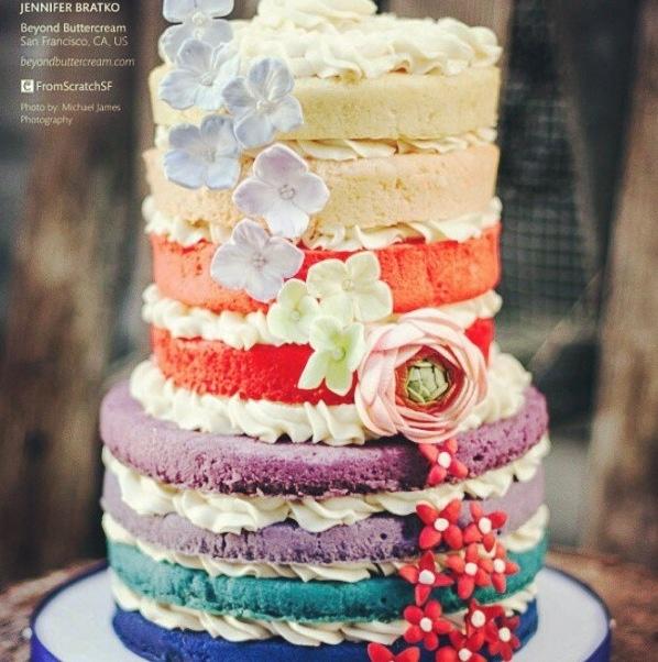 Rainbow Wedding Cake Alyssa Vargas Pinterest