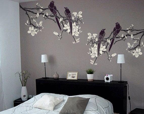 Oltre 25 fantastiche idee su disegni per pittura pareti su - Stencil albero da parete ...